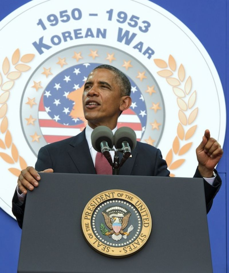Obama observes 60th anniversary of Korean armistice